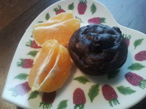 Healthy Chocolate-Orange Muffin