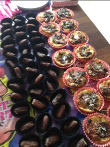 Stuffed Dates and Mini Quiches