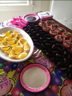 Bachelorette fare: Lemon drop shots, stuffed dates, and mini quiches
