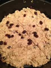 Soda bread, ready to bake.