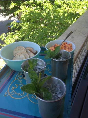 Mint Juleps and Pimento Cheese